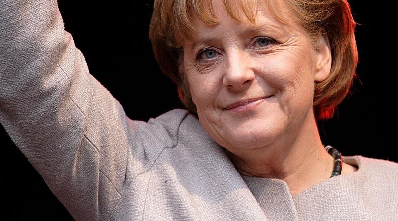 Werbeauftritt in der Schule: Bundeskanzlerin Angela Merkel. Archiv-Foto: Aleph / Wikimedia Commons (CC BY-SA 2.5)