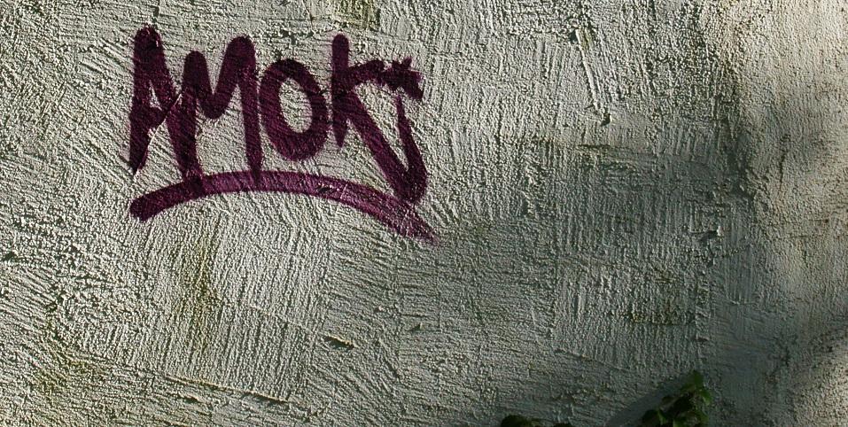 Oft werden Amok-Drohungen an Schulwände gesprüht. Foto: Jörg Klemme, Hamburg / pixelio.de (1)