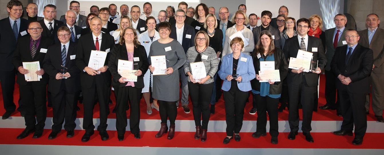 Das sind die Geehrten beim Deutschen Lehrerpreis 2015. Foto: Deutscher Lehrerpreis
