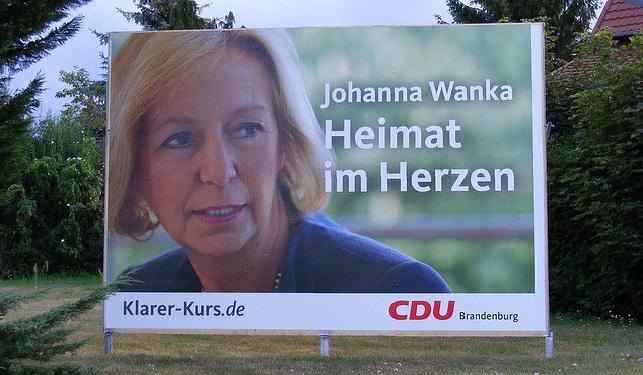 2009 kandidierte Johanna Wanka noch in Brandenburg, bevor sie Wissenschaftsministerin in Niedersachsen wurde. Und jetzt: Berlin.