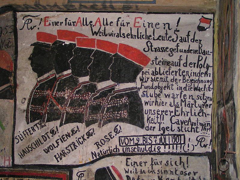 Wandmalerei der Heidelberger Burschenschaft von 1901: Damals hatten die Studentenverbindungen noch kein Rechtsradikalenproblem. (Foto: Stefan Kühn/Wikipedia CC BY-SA 3.0)