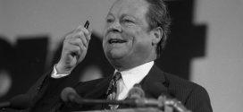 Willy Brandt, hier beim Bundesparteitag der SPD in Hannover 1973, war Kanzler, als sich Werner Kahmann einschrieb. Foto: Wikimedia Commons / Bundesarchiv (CC BY-SA 3.0 DE)