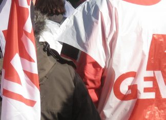Szene einer Demonstration (in Dortmund)
