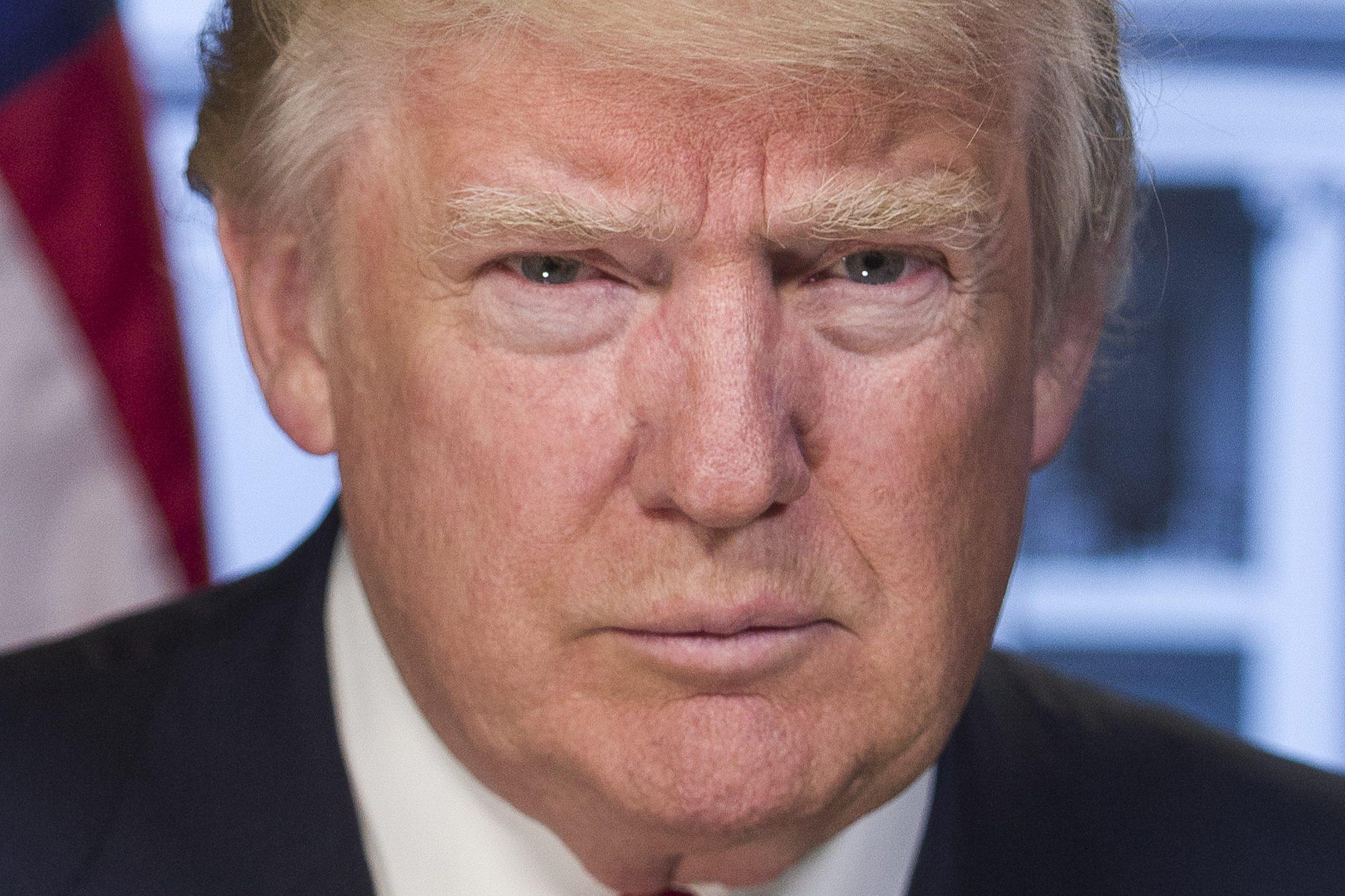 Dies ist das offizielle Porträt des neuen US-Präsidenten Donald Trump. Foto: White House
