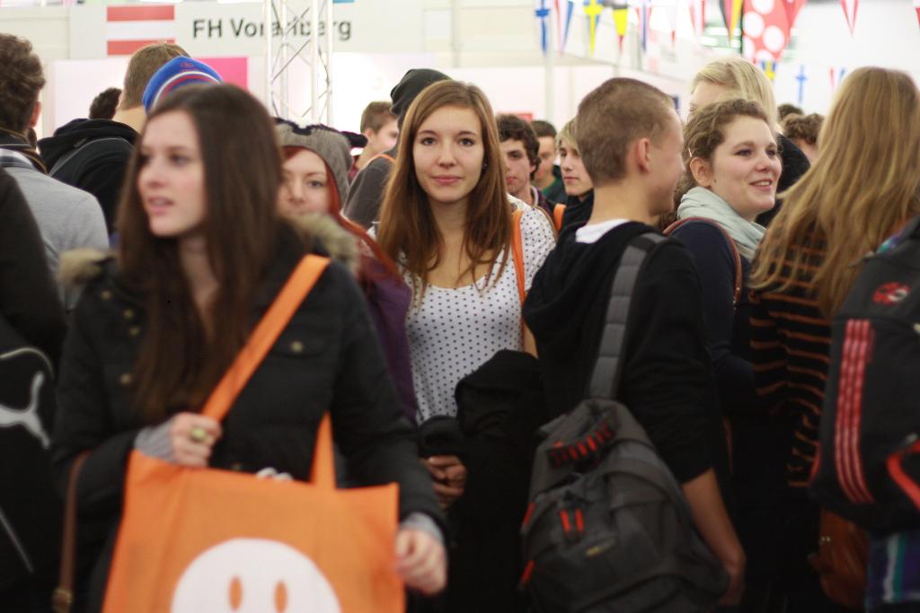Einstieg Köln 2015 – Besucher im International Corner. (Foto: Einstieg GmbH)