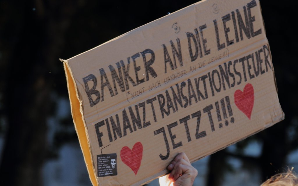 Die Weltfinanzkrise hat weltweit zu Protesten geführt, nur bei den wenigsten mit antisemitischem Hintergrund. Foto: Oliver Hallmann / flickr (CC BY 2.0)