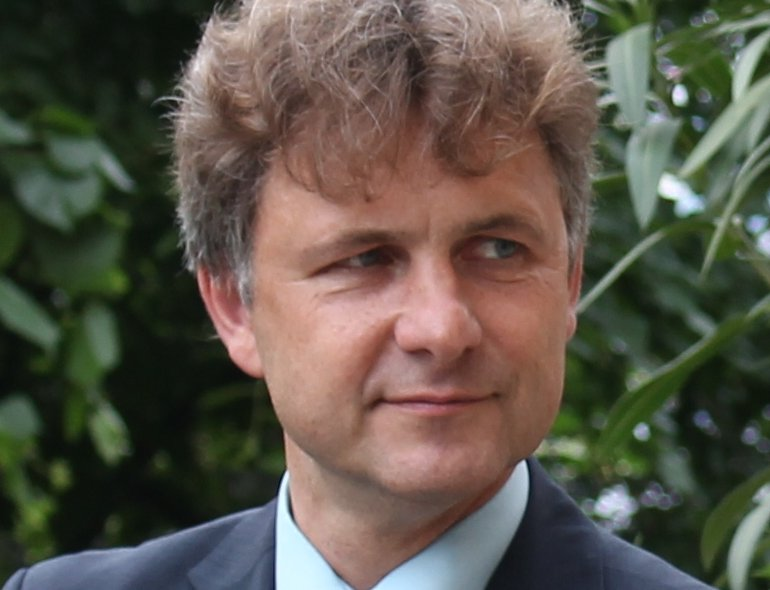 """Kündigte ein abschließendes Angebot zur Fertigstellung von """"ella"""" an: Karlsruhes Oberbürgermeister Frank Mentrup, stellvertretender Vorsitzender des IT-Zweckverbands ITEOS."""