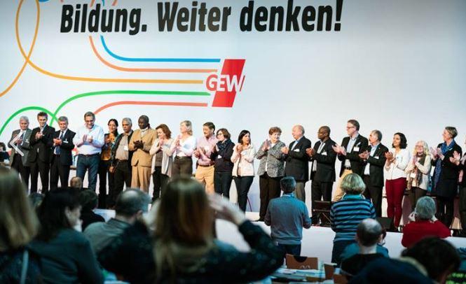 Ordentlich 'was los beim Gewerkschaftstag der GEW in Freiburg. Foto: GEW