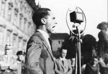 Untersuchungen zu den Reden der führenden Nazis (hier Joseph Goebbels 1932) liegen bereits in größerer Zahl vor. Der Einfluss der Ideologie auf die Alltagssprache ist dagegen kaum untersucht, so die Mannheimer Forscher. Foto: Bundesarchiv / Wikimedia Commons (CC-BY-SA 3.0)