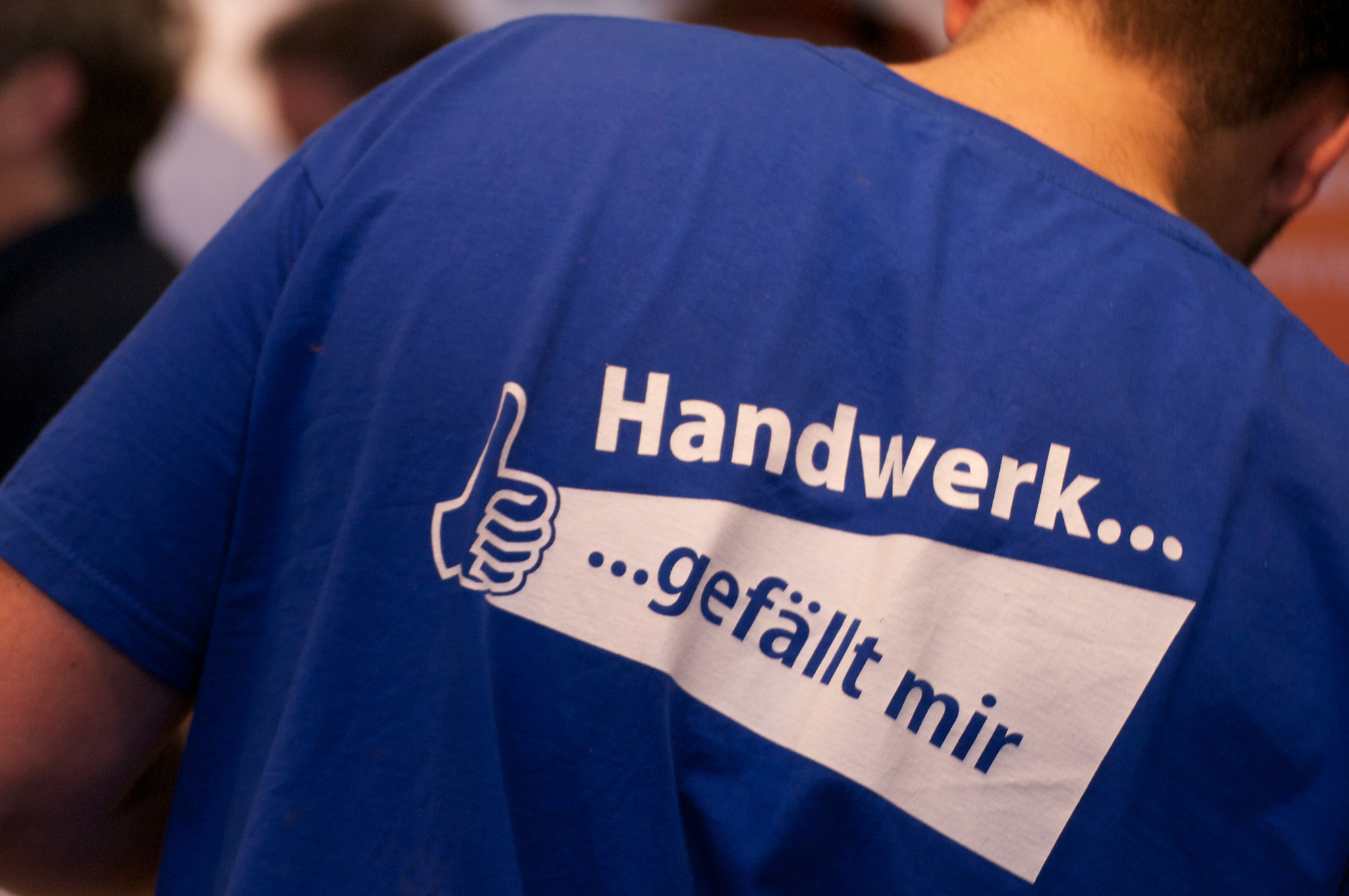 Das Handwerk leidet unter Nachwuchsmangel - trotz schicker Werbe-T-Shirts. Foto: Maik Meid / flickr (CC BY-SA 2.0)