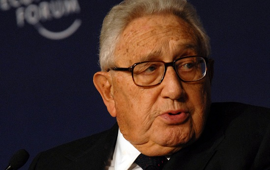 """In herausragender Weise um Friedenspolitik und Entspannung verdient gemacht"": Ex-US-Außenminister Henry Kissinger. Foto: World Economic Forum / Wikimedia Commons (CC BY-SA 2.0)"