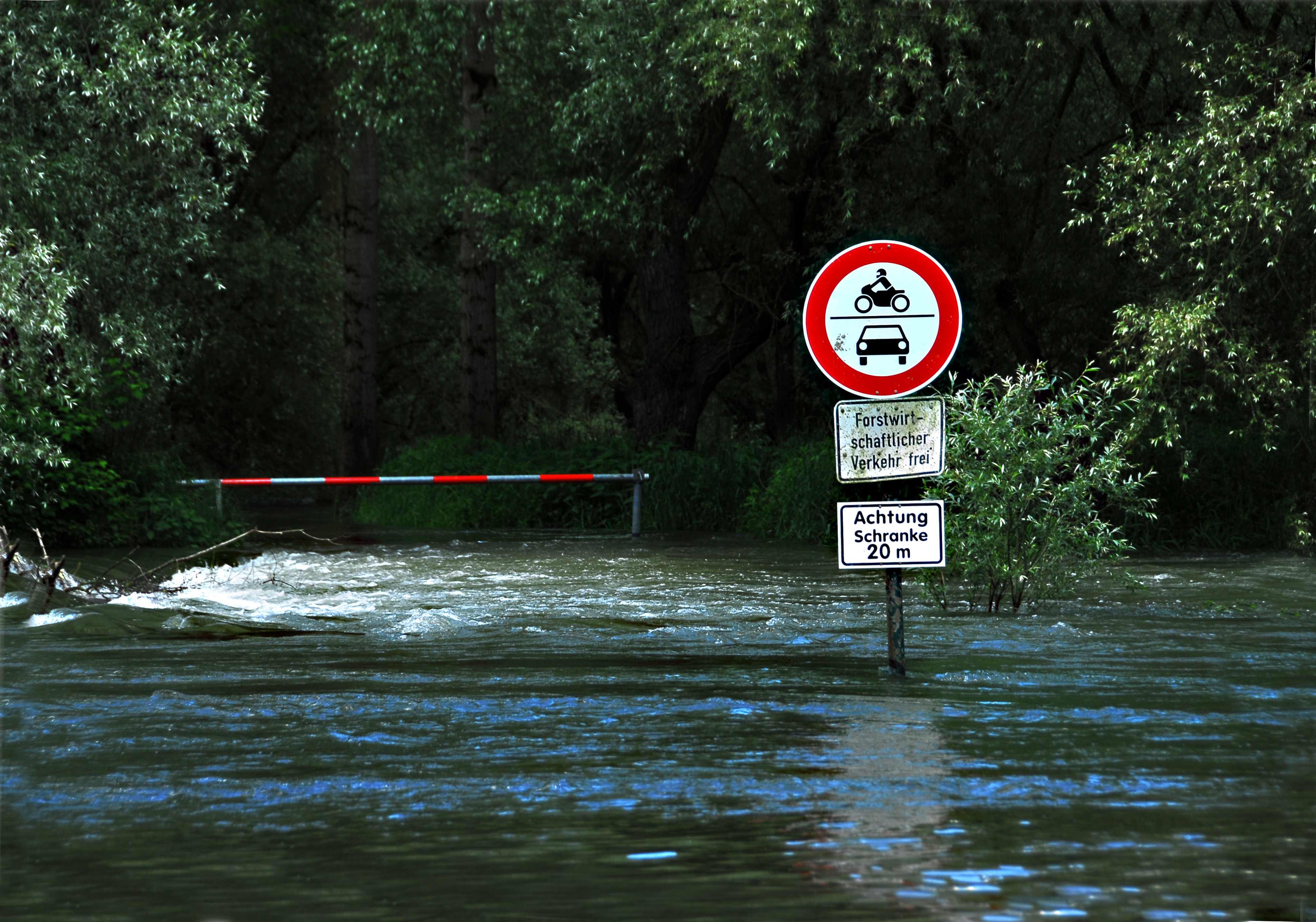 Hochwasserszene