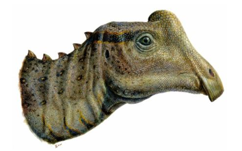 "So soll ""Joe"" einmal ausgesehen haben. Illustration: Raymond M. Alf Museum of Paleontology"