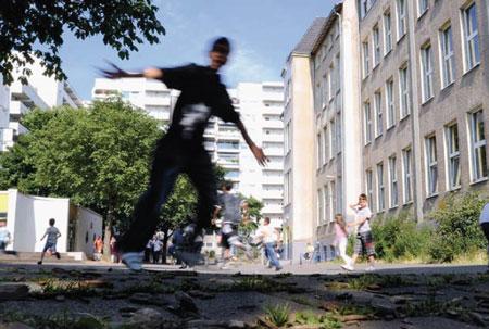 Der Schulhof der Grundschule Kleine Kielstraße in Dortmund. Foto: Alex Büttner