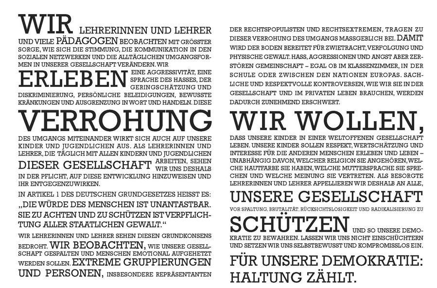 """Das """"Manifest gegen die Verrohung der Sprache"""". Illu: BLLV"""