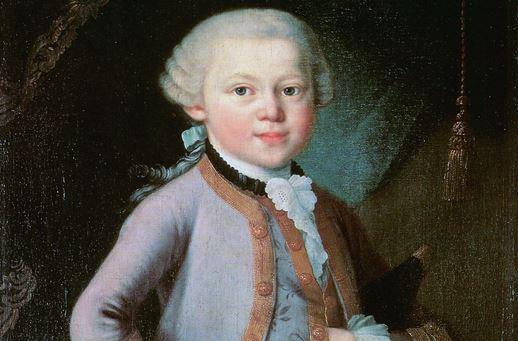 haben: das Wunderkind Wolfgang Amadeus Mozart, hier auf einem Ölgemälde von 1763. Illu: Wikimedia Commons