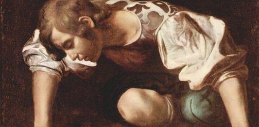 """Ostdeutschland hat hinsichtlich des Narzissmus' aufgeholt, (Ausschnitt aus Michelangelo Merisi da Caravaggios """"Narziss"""" (1598) Bild: Wikimedia Commons"""