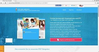 Der Ratgeber bietet einen ersten Einstieg in das Lehren und Lernen mit digitalen Medien. Sreenshot von www.computerbild.de/specials/online-lernen-mit-smartphone-pc-und-tablet/