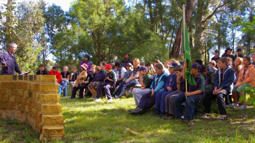 Ansprache bei einem Pfadfinderlager