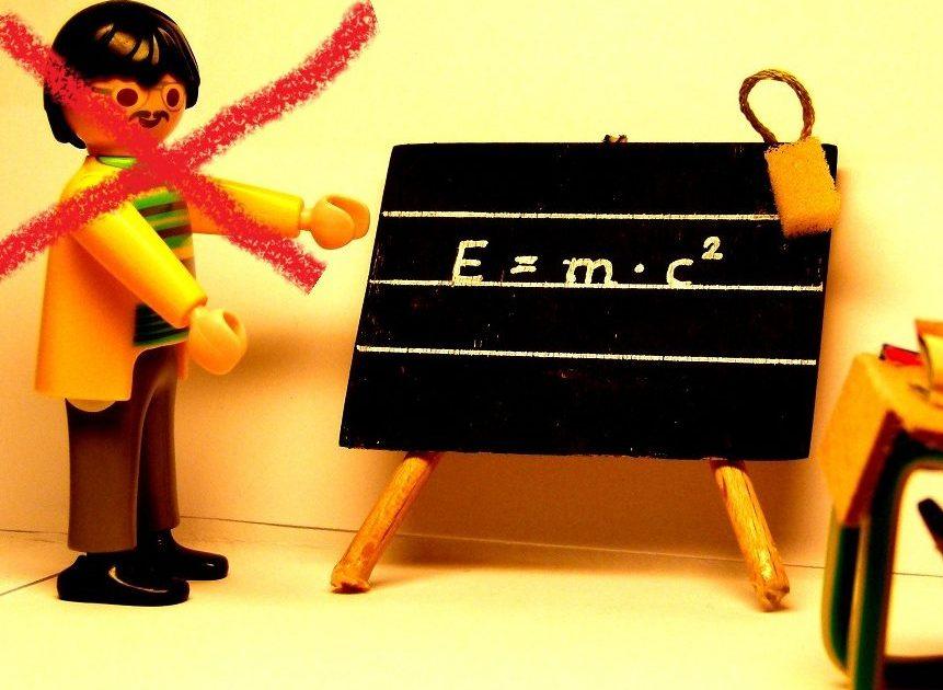 Schwupps, da ist der Lehrer weg. Foto: News4teachers