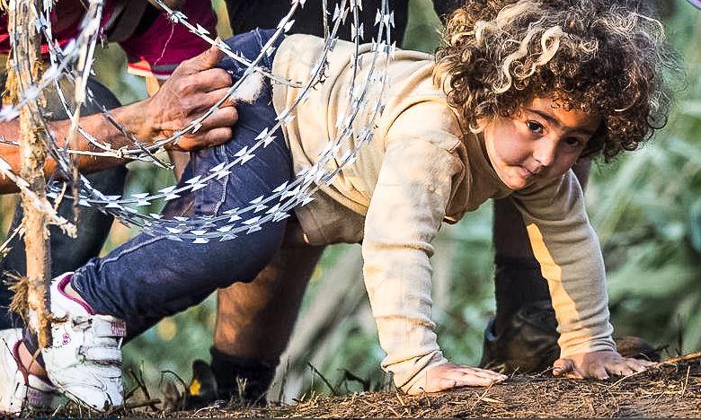 Schlimme Erfahrungen auf der Flucht: An der Grenze zu Ungarn wurden Kinder unter dem Stacheldraht hindurch geschoben. Foto: Freedom House / flickr