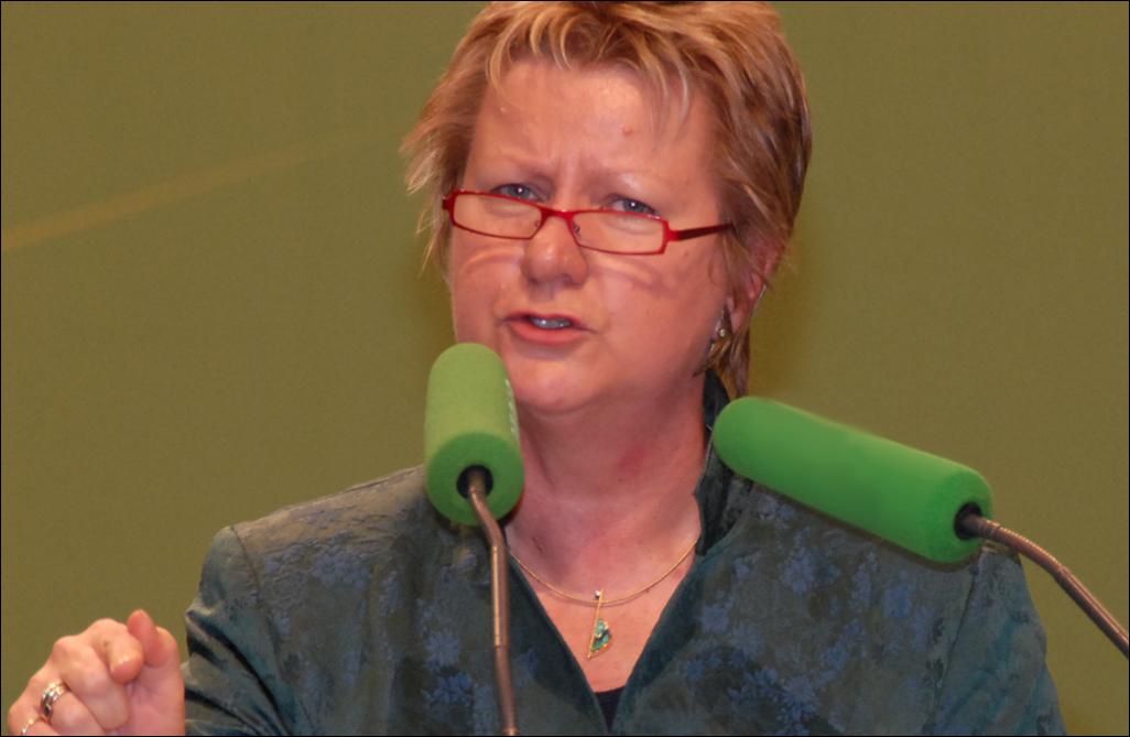 NRW-Schulministerin Sylvia Löhrmann steht unter Druck. Foto: Bündnis 90/Die Grünen Nordrhein-Westfalen / Wikimedia Commons (CC-BY-SA-2.0)