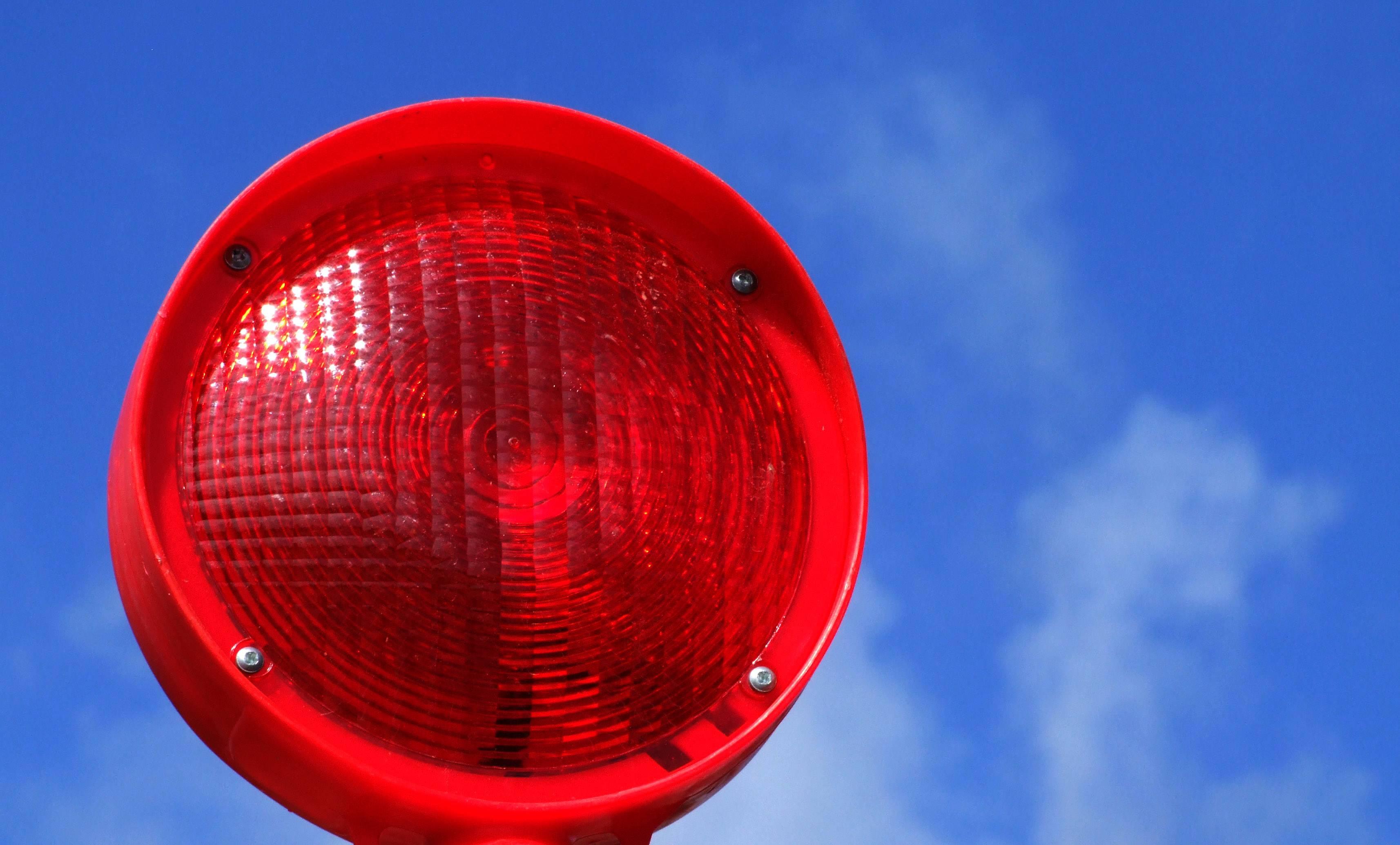 rotes Baustellenlicht