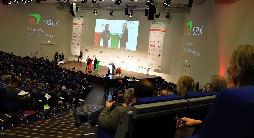 Nina Ruge und Peter Maffay auf dem Deutschen Schulleiterkongress. Foto: Susanne Schnabel