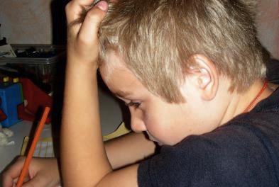 gestresster Schüler